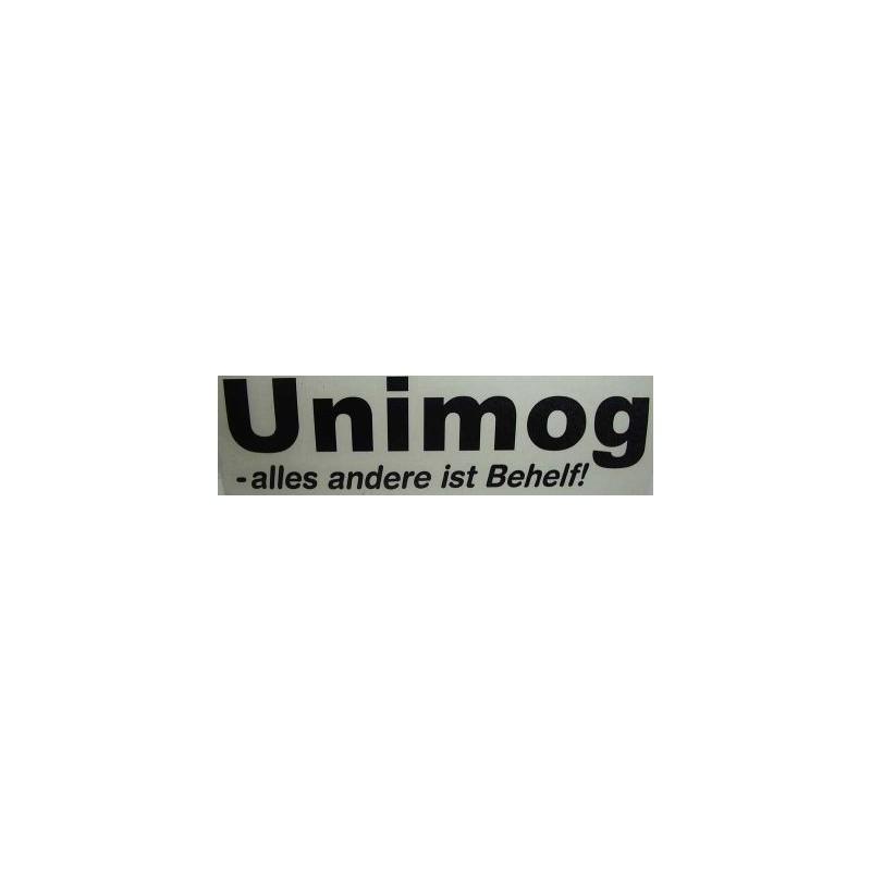Auto-Aufkleber Unimog-alles andere ist Behelf