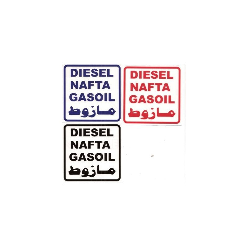 Aufkleber Diesel Nafta Gasoil Für Tank Ersatzteile Porzel