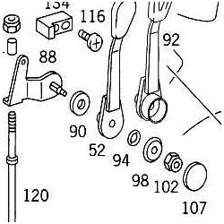 Reparatursatz Handgas U 406,421,416 usw.