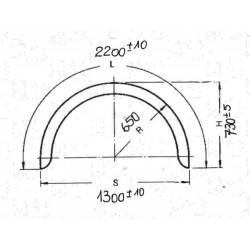 Kotflügel AluRiffel 2,5/4,0 Einachs mit gebörtelten Rand Breite 650mm H6522 ALQ